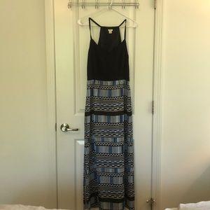 J Crew Blue Print Maxi Dress- 6